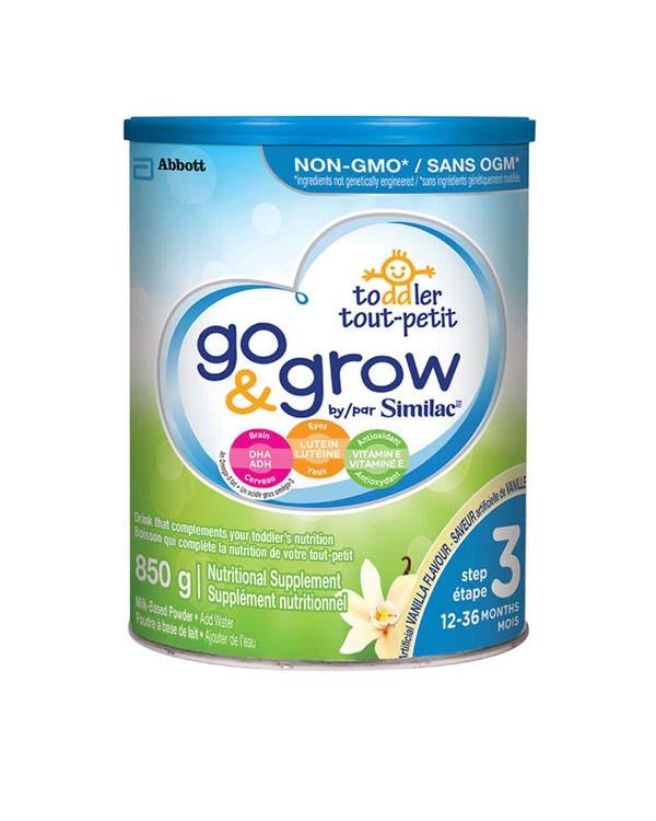 加拿大雅培go&grow非转基因三段婴幼儿奶粉 850g