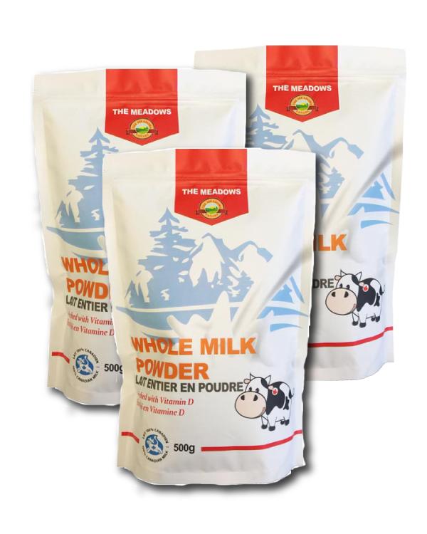 加拿大原产美多氏全脂奶粉3袋齐购 3x500克 Meadows