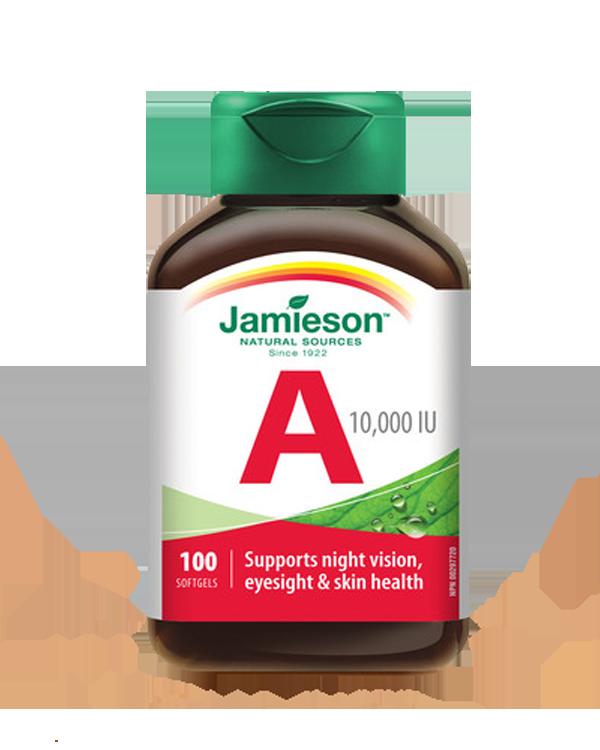 加拿大健美生天然维生素A 100片 Jamieson