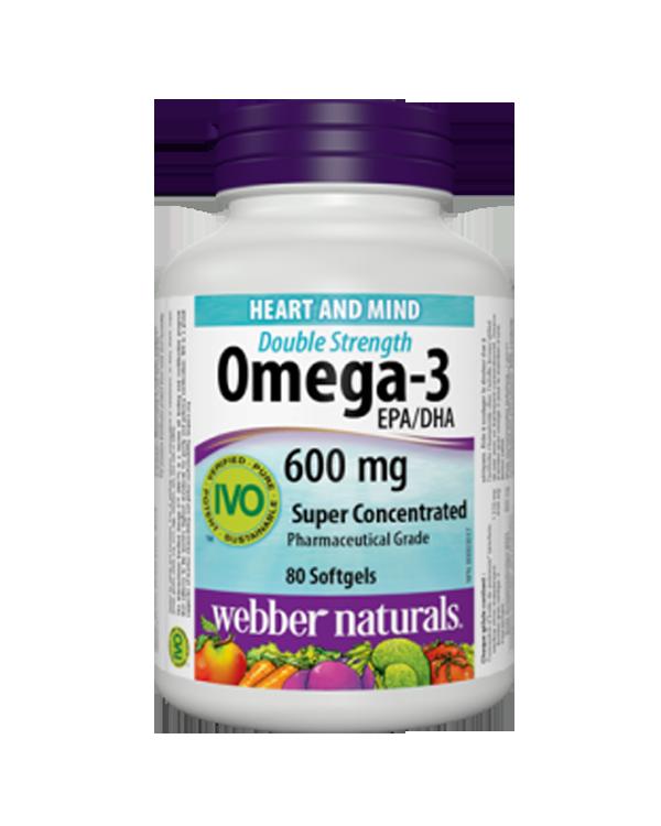 韦伯天然欧米伽3 加强型 80粒  Webber Naturals