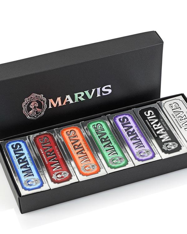玛尔斯牙膏 奢华限量礼盒 7支装 Marvis