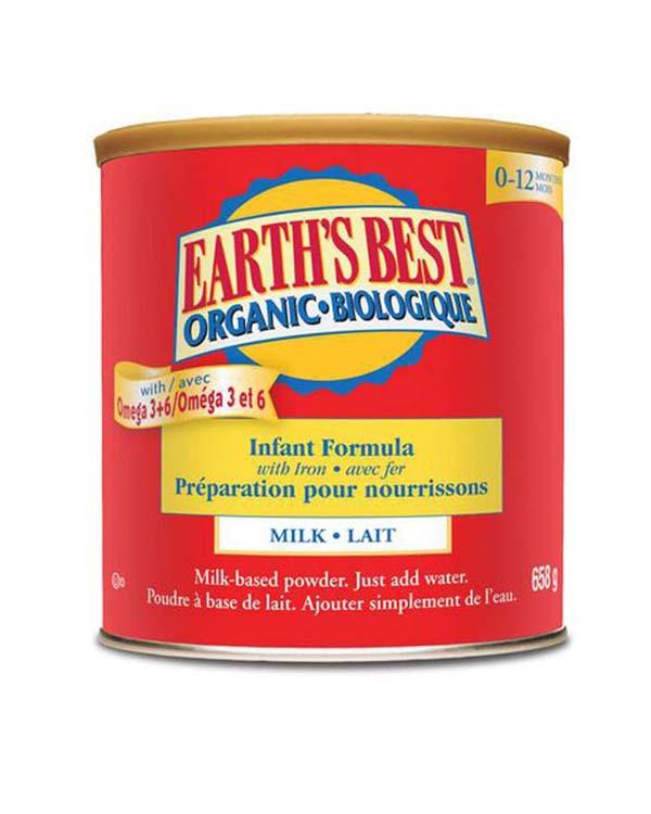 爱思贝有机高铁婴儿奶粉一段 658克 Earth's Best