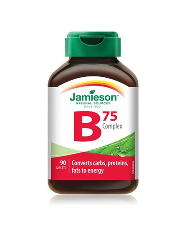 健美生维生素b75族片抗疲劳抗压复合族片90粒 jamieson